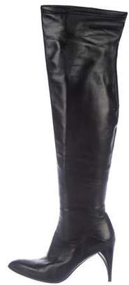CNC Costume National Leather Over-The-Knee Boots