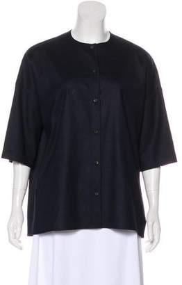 The Row Three-Quarter Sleeve Button-Up Top