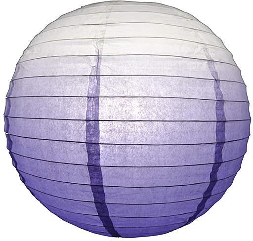Purple Ombre Paper Lantern - Set of Six