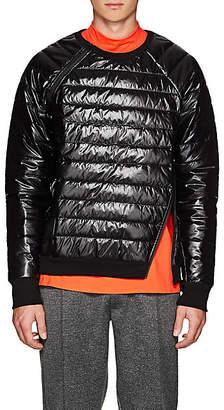 Siki Im Men's Channel-Quilted Zip Sweatshirt - Black