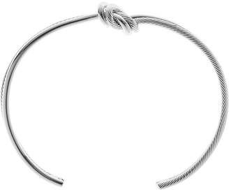 Reiss Our last order date for Christmas has now passed CALLIE BRACELET KNOT DETAIL BANGLE Silver