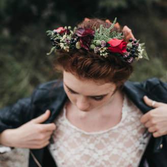 Luna and Wild Autumn Flower Crown