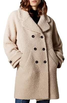 Karen Millen Double-Breasted Bouclé Coat