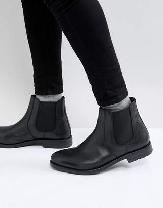 Frank Wright Round Toe Leather Chelsea Boots