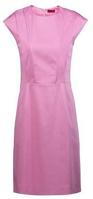 HUGO BOSS Cap-sleeve dress with pintuck-pleat bodice