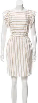 Lanvin Striped Knee-Length Dress