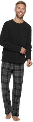 Croft & Barrow Men's Microfleece Crewneck Tee & Lounge Pants Set