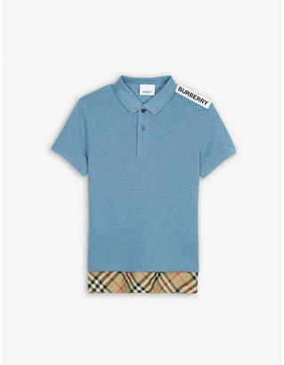 e8f9ae95 Burberry Long hem cotton polo shirt 3-14 years