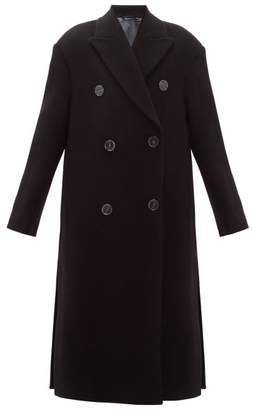 Acne Studios Octania Oversized Double Breasted Wool Blend Coat - Womens - Black