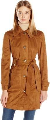 Jessica Simpson Women's Suede Rain Trench Coat