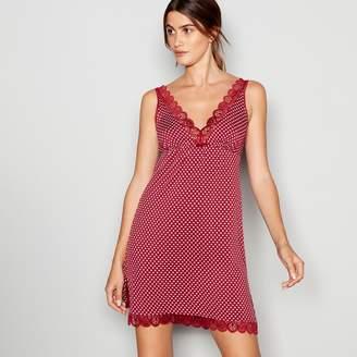 J by Jasper Conran Dark Red Lace Trim Jersey 'Lizzie' Chemise