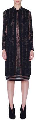 Akris Jacquard Linen-Silk Cardigan