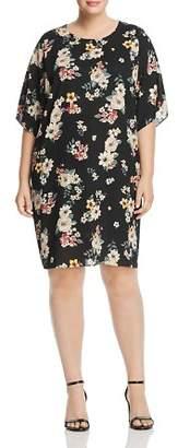 Vince Camuto Plus Dolman Sleeve Floral Dress