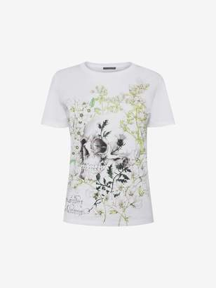 Alexander McQueen White Garden Skull T-Shirt