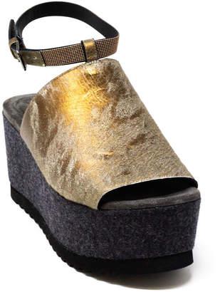 Brunello Cucinelli Velvet & Leather Sandal