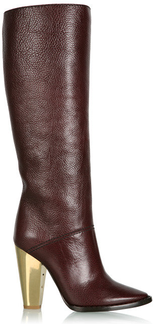 D&G Dolce&Gabbana Burgundy Knee High Boot