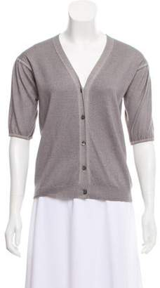 Prada Lightweight Short Sleeve Cardigan grey Lightweight Short Sleeve Cardigan