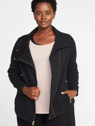 Old Navy Sweater-Fleece Plus-Size Moto Jacket