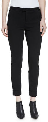 ATM Anthony Thomas Melillo Ponte Slim Cuffed Ankle Pants $295 thestylecure.com
