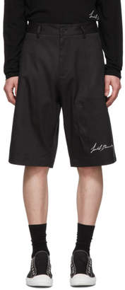 Isabel Benenato Black Signature Bermuda Shorts