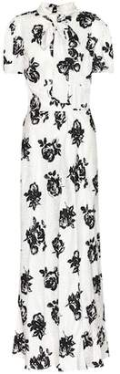 Miu Miu Jacquard silk maxi dress