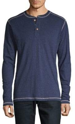 Speckled Long-Sleeve Henley