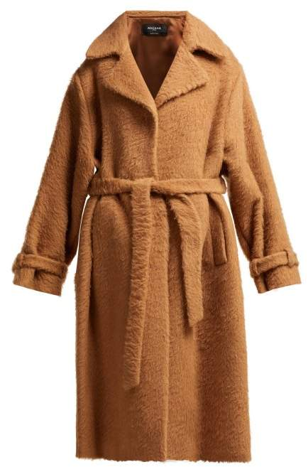 Single Breasted Wool Coat - Womens - Light Brown