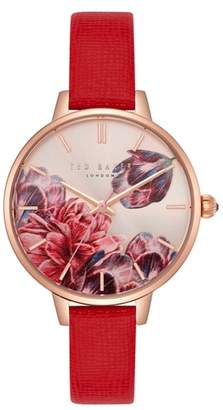 Ted Baker Kate Leather Strap Watch, 36mm