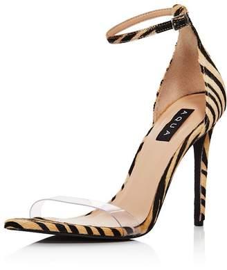 e114a60c1 Aqua Women's Siri Clear & Calf Hair High-Heel Sandals - 100% Exclusive