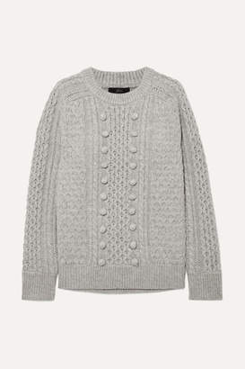 J.Crew Azra Cable-knit Sweater - Gray