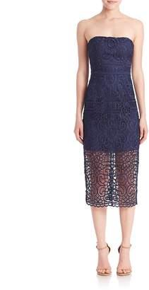 Nicholas Women's Geometric Floral Strapless Dress