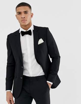 Burton Menswear tuxedo jacket with tipping in white