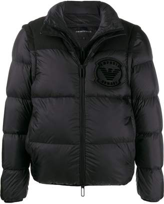 layered padded jacket