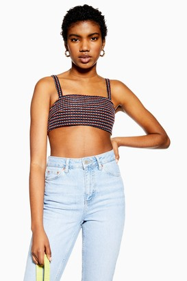 Topshop Womens Rainbow Stripe Bralet - Multi