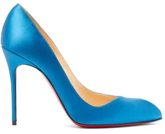 Christian Louboutin Corneille 100 Satin Pumps - Womens - Blue