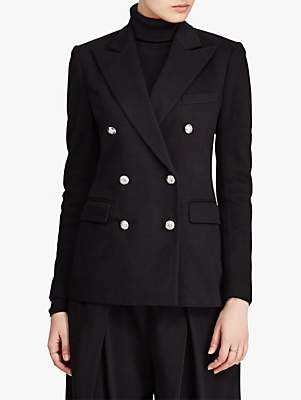 Ralph Lauren Polo Double Breasted Jersey Blazer, Polo Black