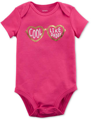 Carter's Cool Like Daddy Graphic-Print Cotton Bodysuit, Baby Girls