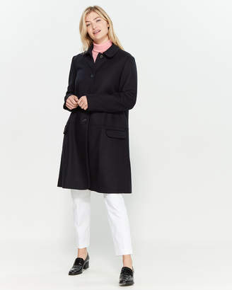 Jil Sander Navy Navy Button Front Wool Coat