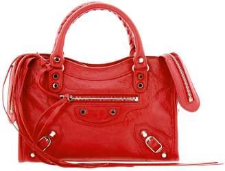 Balenciaga Mini Bag Classic Mini City Bag In Genuine Leather With Logoed Shoulder Strap