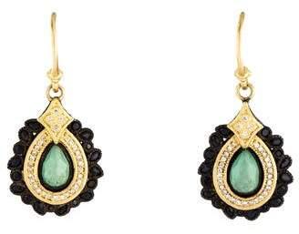 Armenta Chrysoprase, Sapphire & Diamond Old World Drop Earrings