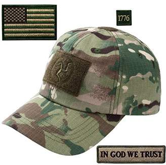 In God We Trust EmbTao Tactical Operator Cap with USA Flag 1776 Patch Fit Most