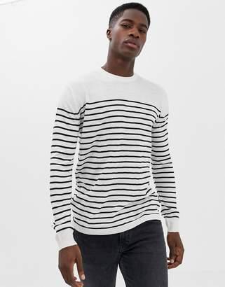 French Connection Breton Stripe Crew Neck Sweater