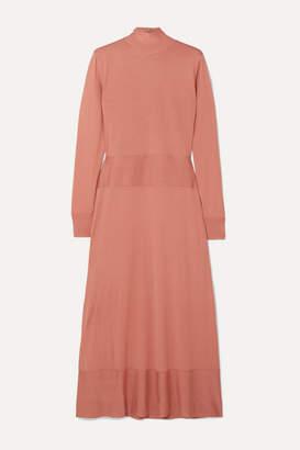 Agnona Wool Midi Dress - Pink
