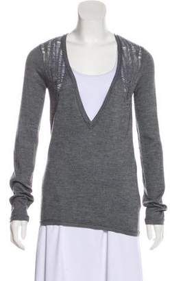 Helmut Lang Laser Cut Cashmere Sweater
