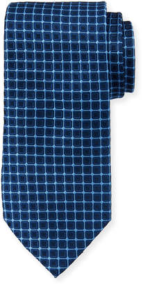 Neiman Marcus Boxed Grid Silk Tie