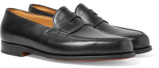 John Lobb Lopez Leather Penny Loafers - Black