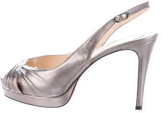 Christian Louboutin Christian Louboutin Metallic Platform Sandals