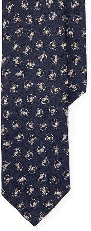 Polo Ralph LaurenPolo Ralph Lauren Crab-Print Linen Narrow Tie