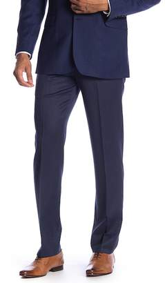 "Brooks Brothers Blue Wool Classic Fit Trousers - 30-34"" Inseam"