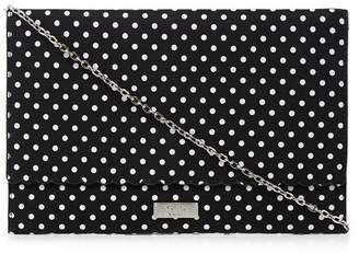 Faith Black 'Poppy' Spotted Clutch Bag